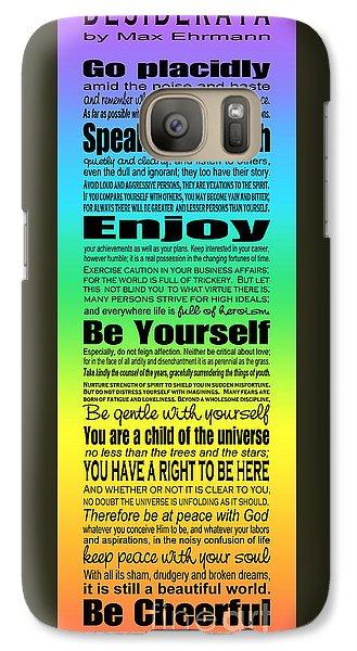 Galaxy Case featuring the digital art Desiderata - Subway Style - Rainbow by Ginny Gaura