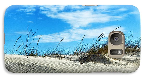 Galaxy Case featuring the photograph Designs In Sand And Clouds by Gary Slawsky