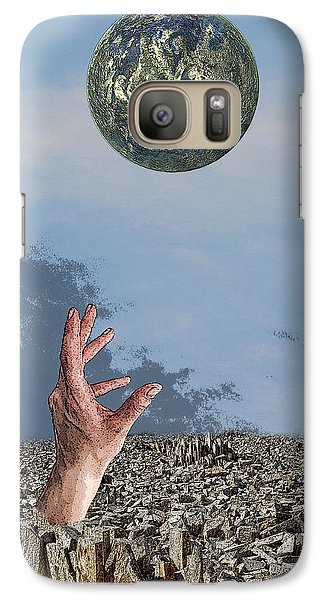 Galaxy Case featuring the digital art Desiring Another World by Angel Jesus De la Fuente