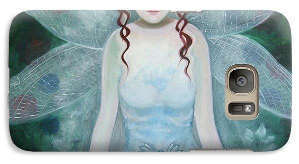 Galaxy Case featuring the painting Desmoiselle Libellule by Tone Aanderaa