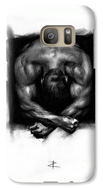 Galaxy Case featuring the drawing Despondent by Paul Davenport