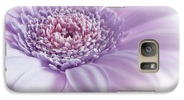 Galaxy Case featuring the photograph Close Up White Pink Flowers Macro Photography Art by Artecco Fine Art Photography