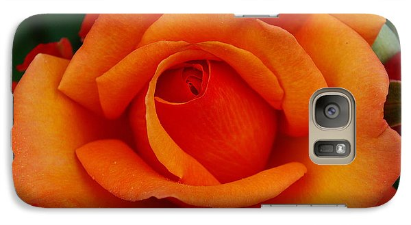 Galaxy Case featuring the photograph Detail In Orange by John S