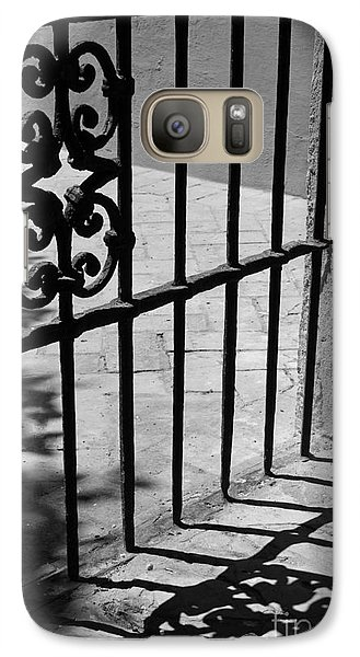 Galaxy Case featuring the photograph Detail Of Gate In Seville by Cendrine Marrouat