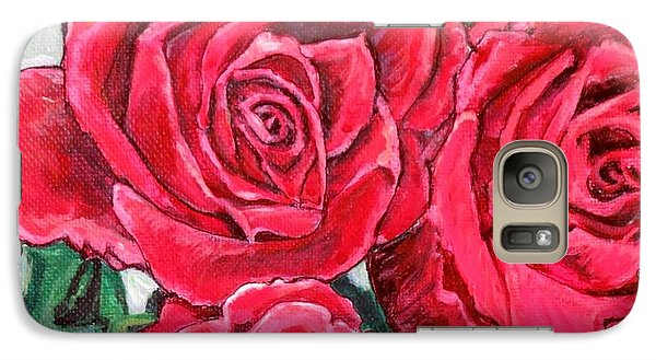 Galaxy Case featuring the painting Detail Of The Delight Of Grandma's Roses Painting by Kimberlee Baxter