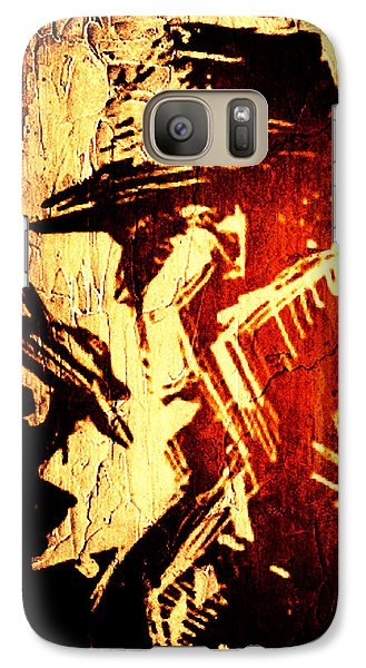 Galaxy Case featuring the digital art Detective Portrait by Andrea Barbieri
