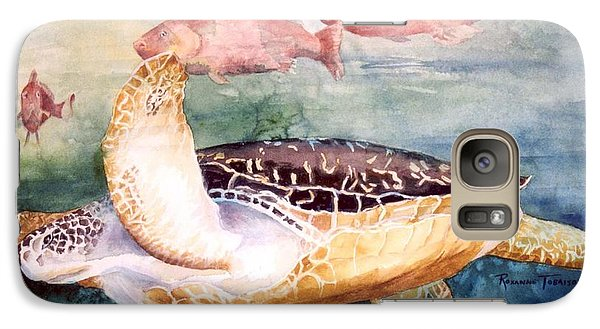 Galaxy Case featuring the painting Determined - Loggerhead Sea Turtle by Roxanne Tobaison