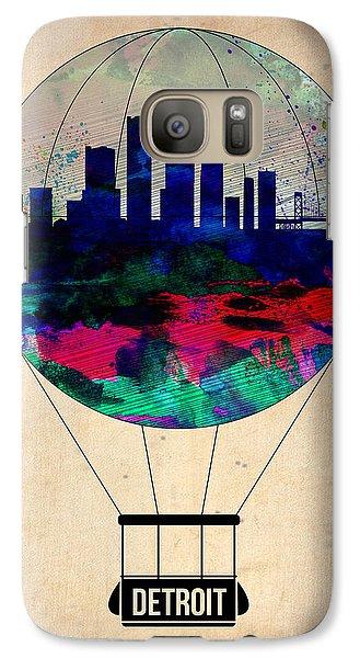 City Scenes Galaxy S7 Case - Detroit Air Balloon by Naxart Studio