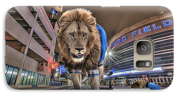 Galaxy Case featuring the photograph Detroit Lions At Ford Field by Nicholas  Grunas
