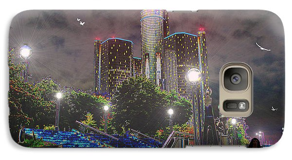 Galaxy Case featuring the photograph Detroit Riverwalk by Michael Rucker