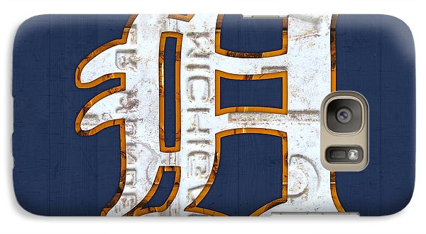 Sports Galaxy S7 Case - Detroit Tigers Baseball Old English D Logo License Plate Art by Design Turnpike