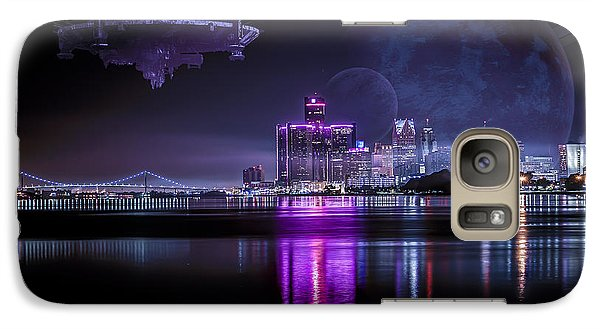 Galaxy Case featuring the photograph Detroit Worlds by Nicholas  Grunas