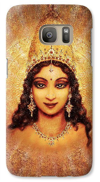 Galaxy Case featuring the mixed media Devi Darshan by Ananda Vdovic