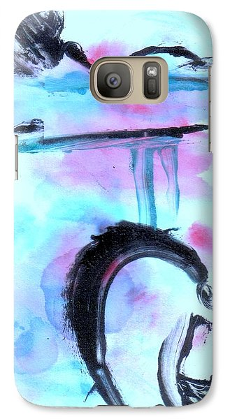 Galaxy Case featuring the painting Devil Dance by Lesley Fletcher