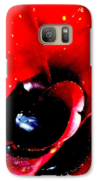 Galaxy Case featuring the photograph Devilish Eye Of The Bromeliad by Antonia Citrino