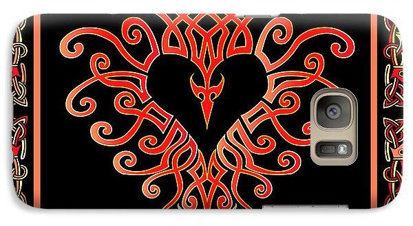 Galaxy Case featuring the digital art Devil's Heart by Vagabond Folk Art - Virginia Vivier