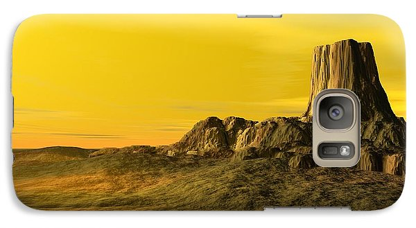 Galaxy Case featuring the digital art Devils Tower by John Pangia
