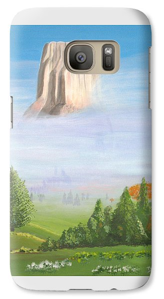 Galaxy Case featuring the painting Devil's Tower  by Phyllis Kaltenbach