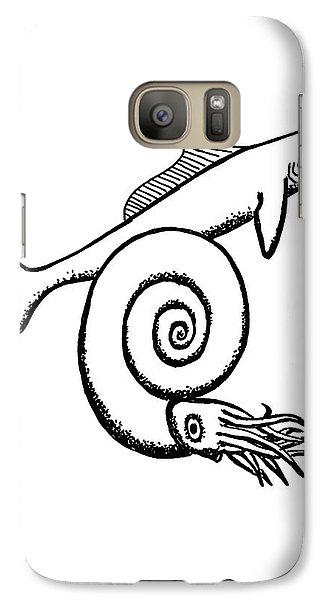 Devonian Shark And Ammonoid Galaxy S7 Case by Richard Bizley