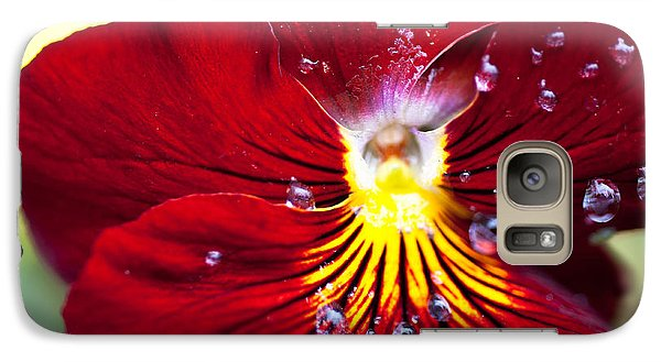 Galaxy Case featuring the photograph Dew Drops by Crystal Hoeveler