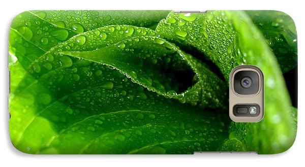 Galaxy Case featuring the photograph Dew Drops by Lisa Phillips