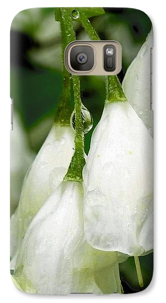 Galaxy Case featuring the photograph Dew Drops by Sally Simon