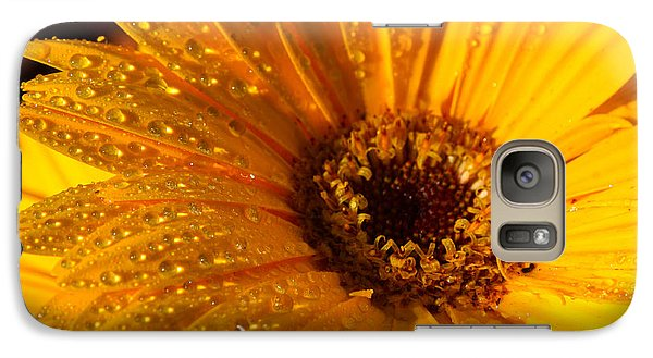 Galaxy Case featuring the photograph Dew On A Daisy by Richard Stephen