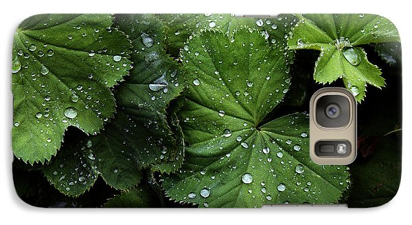Galaxy Case featuring the photograph Dew On Leaves by Tom Brickhouse