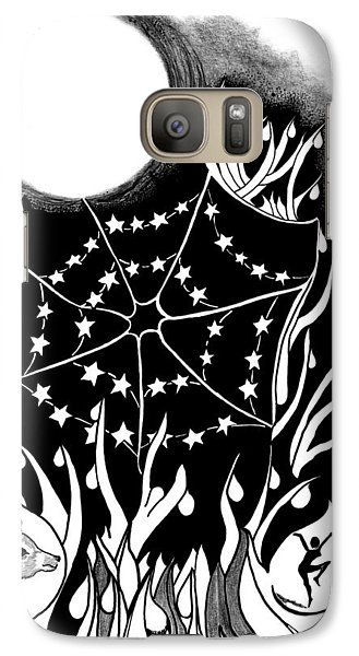 Galaxy Case featuring the digital art Dewdrop Stars by Carol Jacobs