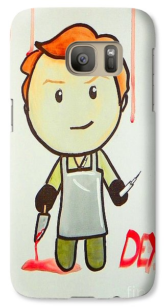 Galaxy Case featuring the painting Dexter by Marisela Mungia