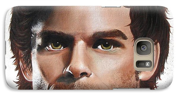 Galaxy Case featuring the painting Dexter by Oddball Art Co by Lizzy Love