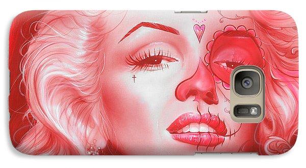 Marilyn Monroe - ' Dia De Los Monroe ' Galaxy Case by Christian Chapman Art