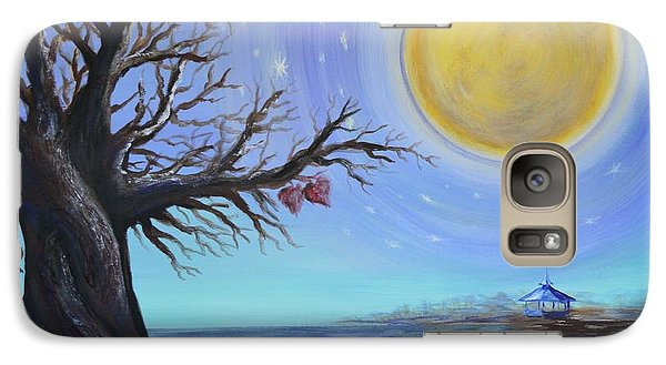 Galaxy Case featuring the painting Diahann And Frank by Agata Lindquist