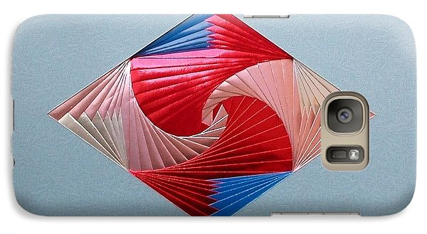 Galaxy Case featuring the mixed media Diamond Design by Ron Davidson