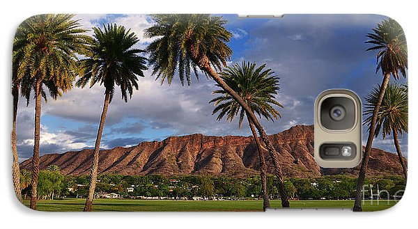 Galaxy Case featuring the photograph Diamond Head State Monument Before Sunset by Aloha Art