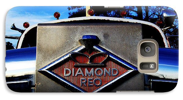 Galaxy Case featuring the photograph Diamond Reo Hood Ornament by Bartz Johnson
