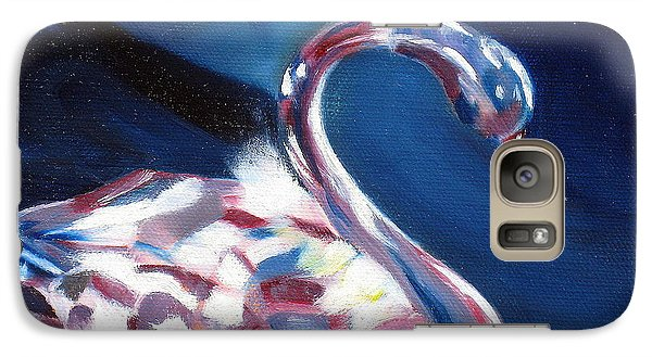 Galaxy Case featuring the painting Diamond Swarovski Swan by LaVonne Hand