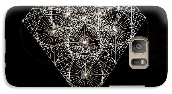 Galaxy Case featuring the drawing Diamond White And Black by Jason Padgett