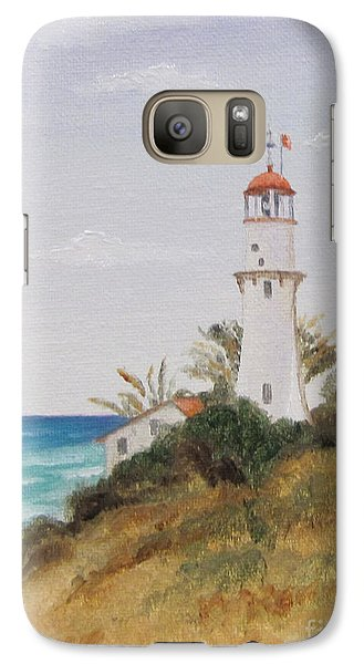 Galaxy Case featuring the painting Diamondhead Lighthouse by Jimmie Bartlett