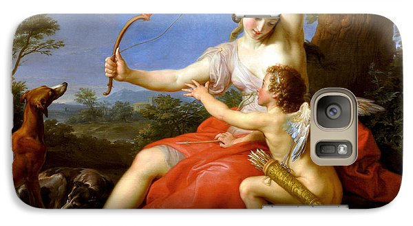 Galaxy Case featuring the digital art Diana And Cupid by Pompeo Batoni