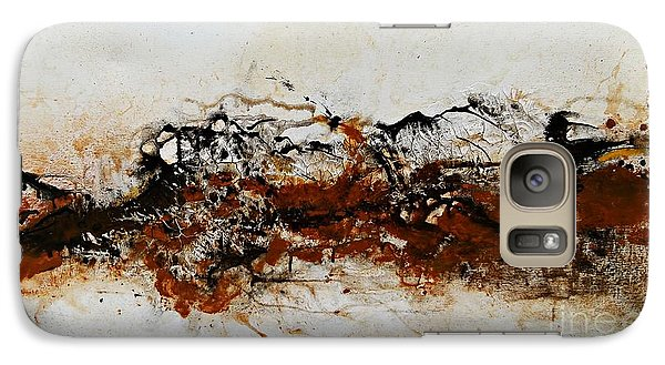 Galaxy Case featuring the painting Die Trying1 - Abstract Art by Ismeta Gruenwald