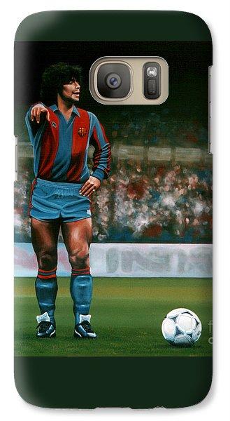 Barcelona Galaxy S7 Case - Diego Maradona by Paul Meijering