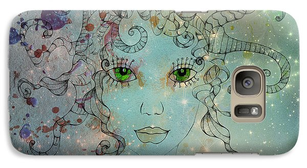 Galaxy Case featuring the digital art Different Being by Barbara Orenya