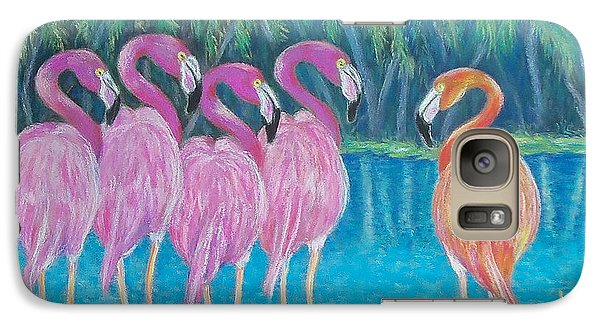 Galaxy Case featuring the painting Different But Alike by Susan DeLain