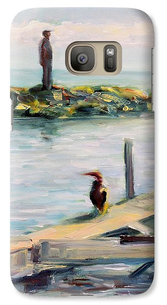 Galaxy Case featuring the painting Different Views by Mary Schiros