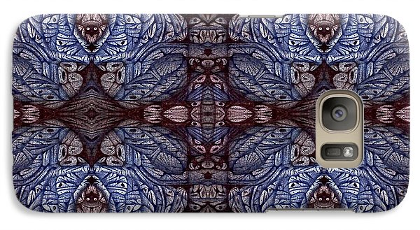Galaxy Case featuring the drawing Digitized Ballpoint Circuler Eight Squared by Jack Dillhunt