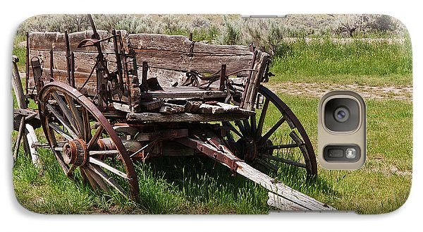 Galaxy Case featuring the photograph Dilapidated Wagon With Leaning Wheels by Sue Smith