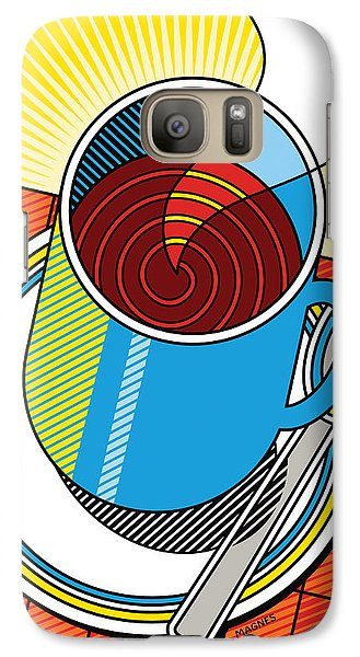 Galaxy Case featuring the digital art Diner Coffee by Ron Magnes