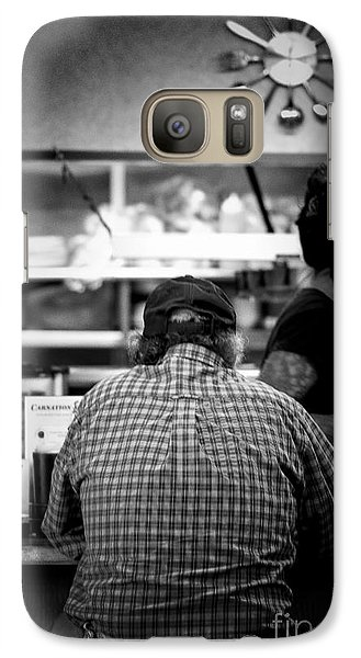 Galaxy Case featuring the photograph Diner Regular by Catherine Fenner