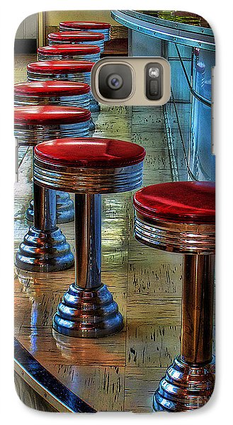 Galaxy Case featuring the photograph Diner Stools by Clare VanderVeen